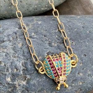 Golden Ladybug Necklace